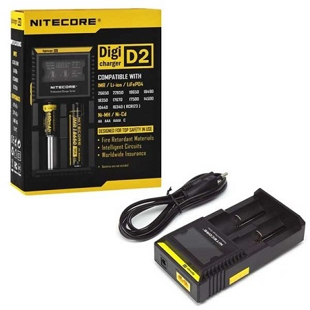 Nitecore D2 Digital Battery Charger