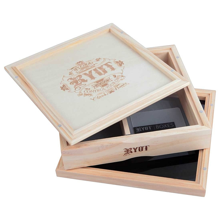 Ryot 7x7 Pollen Box With Sifting Screen Natural Wood